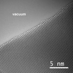 High-resolution TEM image of a clean solution-synthesized GaP nanowire surface
